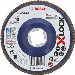 Δίσκος Bεντάλια 125mm X-LOCK X571 Best for Metal BOSCH